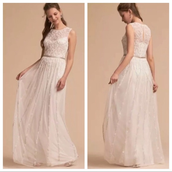 "Anthropologie Dresses & Skirts - Anthro: BHLDN - NWOT ""Eliza"" Beaded Wedding Dress!"